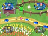 Mario Party 7 GameCube Princess Peach running along the game board.