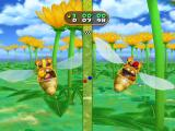 Mario Party 7 GameCube Team minigame; don't crash into flowers!