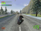 Knight Rider 2: The Game Windows Use the ski mode to get past these rocks.