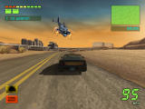 Knight Rider 2: The Game Windows Chased by an armed helicopter.