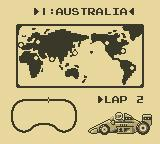 F-1 Race Game Boy The World Map