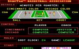 Omni-Play Basketball DOS You can set up some game options. (VGA)