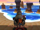 Crash Twinsanity Xbox Fire the cannon to lower the platforms.