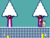 """Férias Frustradas do Pica-Pau SEGA Master System To defeat the stage 3 boss, you have to paint a target on his """"rear end"""", and then peck it... don't ask me why!"""
