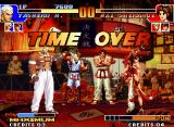 The King of Fighters '97 Neo Geo The battle time expires in a flash, with the victory going to Yashiro Nanakase! Round 2 is coming...