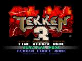 Tekken 3 PlayStation Main menu