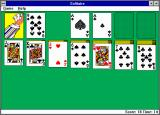Microsoft Solitaire Windows 3.x Hey! The dealer isn't playing straight! He's hidden a card up his sleeve! (EGA)