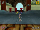 Disney's Extremely Goofy Skateboarding Windows After completing a number of goals, a key appears and you can move on to the next area.