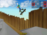 Disney's Extremely Goofy Skateboarding Windows Tricks can be practised in this mode. The right combination is shown in the top right corner.