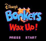 Disney's Bonkers: Wax Up! Game Gear Title screen.