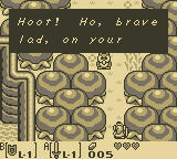 The Legend of Zelda: Link's Awakening Game Boy The owl gives you advice