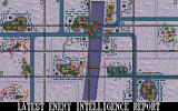 Special Forces DOS The excellent overview map. Red dots show enemy positions, the grid helps locate the mission targets.