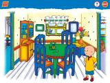 Caillou: Magic Playhouse Windows In the dining room...do you see Gilbert the cat?