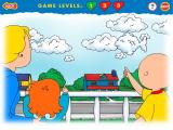 Caillou: Magic Playhouse Windows Out on the balcony - click the cloud shape before it gets away!
