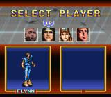 The Peace Keepers SNES Character select screen