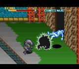 The Peace Keepers SNES A mutant uses its electro shock attack on Echo.