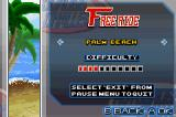 Motocross Challenge Game Boy Advance Track selection in the Free Ride mode