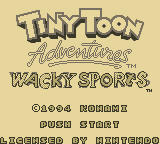 Tiny Toon Adventures: Wacky Sports Game Boy Title Screen