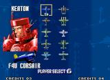 Aero Fighters 3 Neo Geo Plane selection