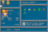 Golden Sun Game Boy Advance Should I use that Herb? Select your Items on this screen..