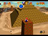 Super Mario 64 Nintendo 64 Standing in one of the four pillars in Shifting Sand Land