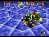 Super Mario 64 Nintendo 64 Mario spinning Bowser in the Dark World