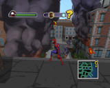 Ultimate Spider-Man Windows Following Rhino's trail of destruction