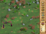 Heroes of Might and Magic IV Windows The new isometric battle screen. Notice that the hero has a figure itself and can now be used in battle, not only for spellcasting. This means that he can be killed, too.