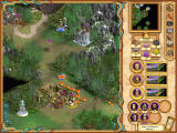 Heroes of Might and Magic IV Windows Here, two heroes meet on their way.