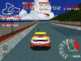 Ridge Racer PlayStation One of the cars you can unlock here in a two cars-only race.