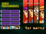 The King of Fighters: Evolution Windows First battle in team mode