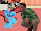 Blue's Clues: Blue's Birthday Adventure Windows Intro - Blue whispers to Steve that she wants to play Clues