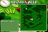 Army Men: Operation Green Game Boy Advance The mission map shows you where to go for your mission objectives.