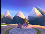 Spyro the Dragon PlayStation Spyro sees only icy mountains