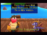 Spyro the Dragon PlayStation Talking to Marco the Baloonist