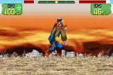 Dragon Ball Z: Supersonic Warriors Game Boy Advance Trunks fighting Dr. Gero.