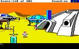 Space Quest: Chapter I - The Sarien Encounter Amiga The thriving settlement of Ulence Flats.