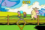 Cartoon Network Block Party Game Boy Advance Aim for the fences mini-game. In this one you have to hit characters lazily moving back and forth along the fence.
