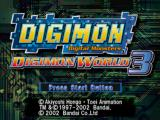 Digimon World 3 PlayStation Title screen.