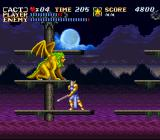 ActRaiser SNES Another boss-fight - try to stay below him.
