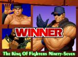 The King of Fighters '97 Neo Geo CD Victory screen.