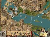 FireFly Studios' Stronghold Crusader Windows Two Lords laying siege against eachother. Separated by a river. Zoomed out view.