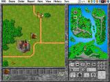 Warlords II Deluxe DOS The newfound units are about to take on a neutral village.