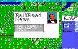 Sid Meier's Railroad Tycoon DOS One of my rivals has connected two more cities.