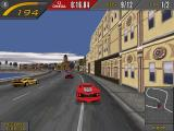 Need for Speed II Windows Ferrari F50 following by the outer curve.