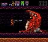 Super Metroid SNES Another boss-fight - push him into the lava