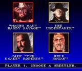 WWF Super WrestleMania SNES Pick your wrestler.