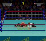 WWF Super WrestleMania SNES He's got me pinned! I need to throw him off before the count reaches three!