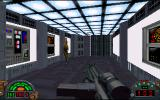 Star Wars: Dark Forces DOS Sneaking up from behind.