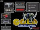 Gold Strategy Games Windows Start screen of the compilation. Click on a game icon to install the corresponding game.